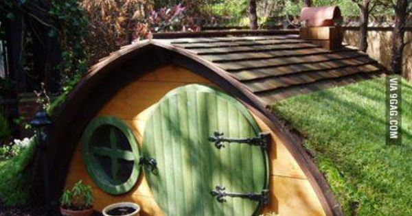 build a tree house when you can build a hobbit house!  great Ideas ...