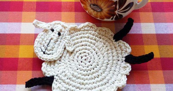 Posavasos ovejita posavasos ganchillo crochet - Posavasos de ganchillo ...