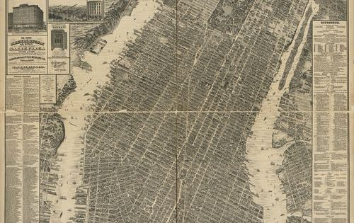 1800's Antique New York City Map, Love decorating with maps! Framed Giclee