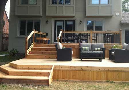 Wood Deck Design Ideas collect this idea modern design wooden deck Multi Level Decks Design And Ideas