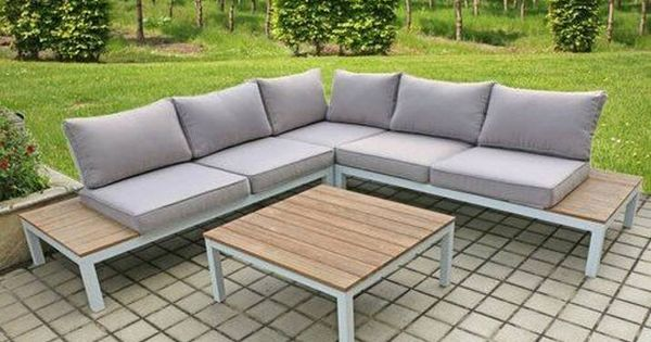 5 Sitzer Lounge Set Vernia Mit Polster In 2020 Garden Sofa Outdoor Decor Sectional Sofa