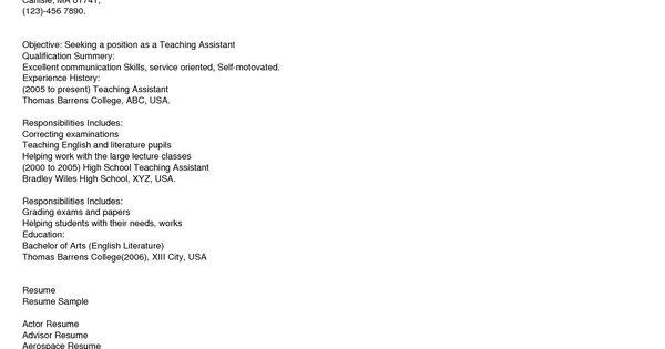 Http://www.resumecareer.info/teacher-assistant-resume