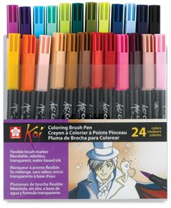 Set 12pcs 12 Colors Sakura Koi Watercolor Brush Pens For