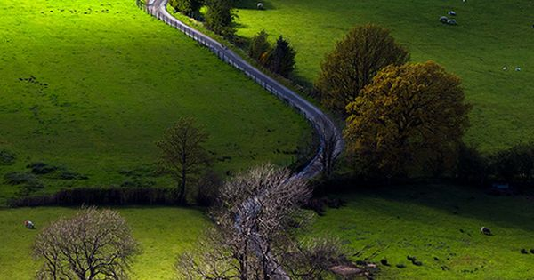 Newlands Valley, Lake District, England. the path ...