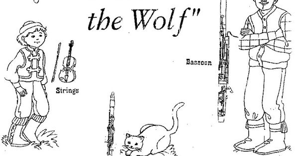 peter and the wolf coloring page - peter and the wolf coloring sheets google search