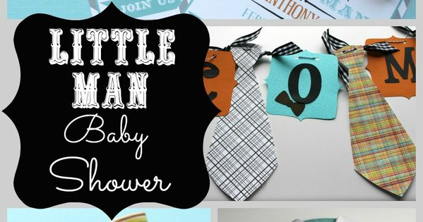 Little Man Baby Shower www.makinglifewhimsical.com babyshower littleman The bow ties are cute