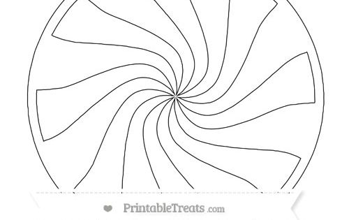 Free Printable Large Peppermint Candy Template Pinterest