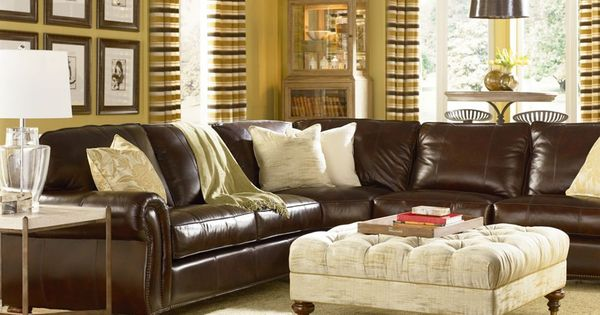 Benjamin Sectional Leather Sku Hs1461 Sect Home Living Room Thomasville Furniture Living Room Inspiration