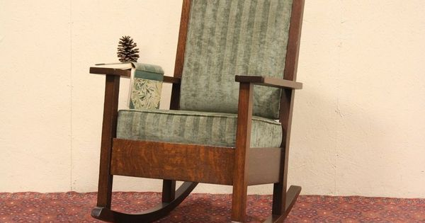 Craftsman or Mission Oak 1900 Rocking Chair - this is the one I have ...