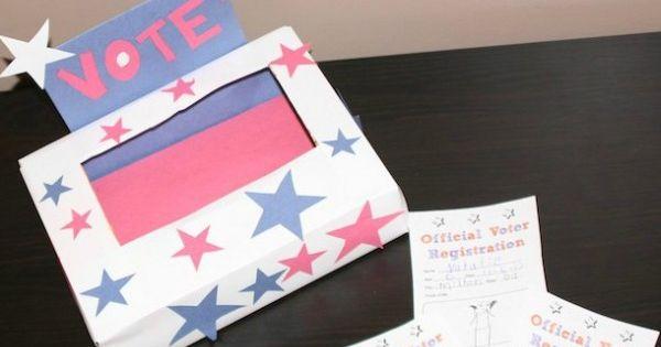 Crafts, Voter registration and Election day on Pinterest