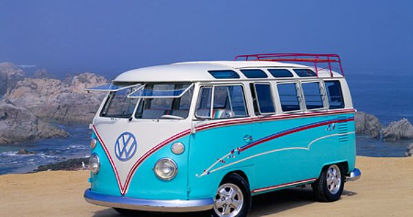 Vintage Vw Bus Pretty Baby Blue And White Bilar Fr 229 N