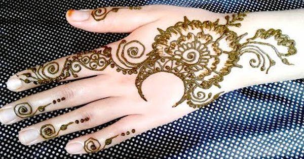 نقش بالحناء بمناسبة شهر رمضان المبارك من سلسلة دروس تعليم النقش بالحناء تحية اكبار لمتابعينا الاوفياء و رمضان Simple Mehndi Designs Mehndi Designs Hand Henna