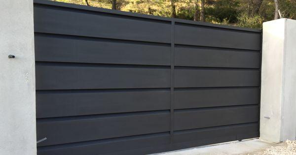 Fabrication et instalation d 39 un portail coulissant en for Fabriquer son portail en pvc