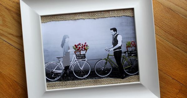 cute idea for engajment photos DIY Embroidered Photo Art by A Beautiful