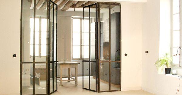 Verri re int rieure double portes les ateliers du 4 for Porte interieur point p