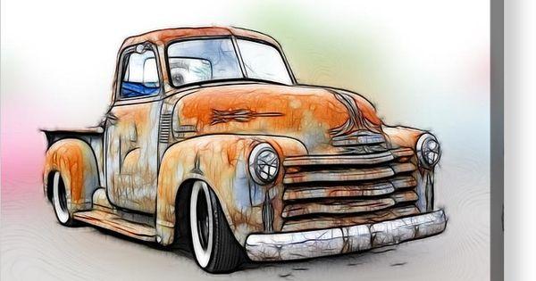 1950 Chevy Truck Acrylic Print By Steve Mckinzie In 2020 Chevy Trucks Truck Art Automotive Art