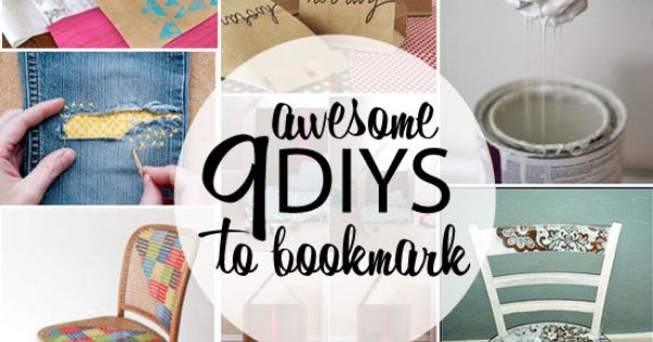 9 Awesome DIY's to Bookmark via Poppytalk