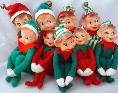 Vintage Felt Christmas Elves Elf On A Shelf Carol Aebersold Vintage Christmas Christmas Elf Felt Christmas