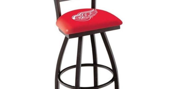 Detroit Red Wings Bar Stool With Back Man Cave