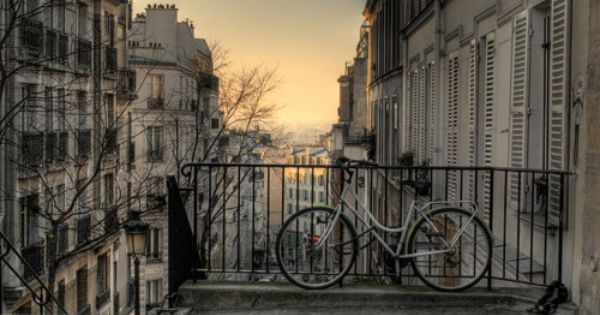 Morning in Montmartre, Paris (France). travel europe bicycle