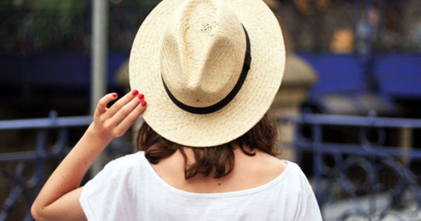 Nothing like a straw hat and red nails in the summer
