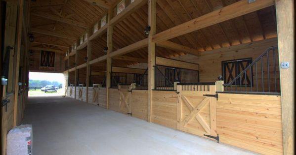 Barn plans 10 stall horse barn design floor plan for Horse stall building plans