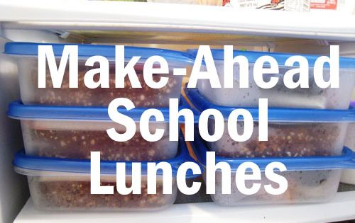 make-ahead school lunches and a lunch box love notes printable