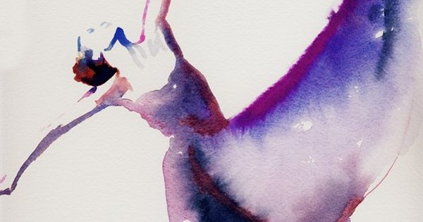 Art, Painting, Print, Illustration, Watercolor Fashion Illustration Print - Dancer 1 with
