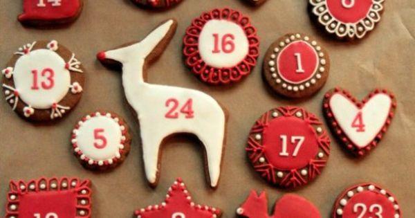 Gingerbread advent calendar Advent AdventCalendar DialMforMoms --Shared by www.DialmforMoms.com