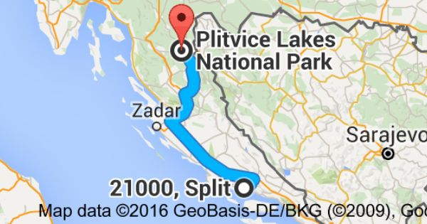 How Far Is Plitvice Lakes From Split Plitvice Lakes Plitvice Lakes National Park Lake