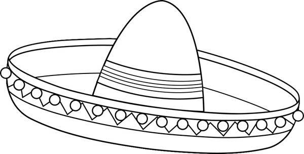 Sombrero Coloring Page Sombrero Mexicano Munecas Mexicanas Sombreros