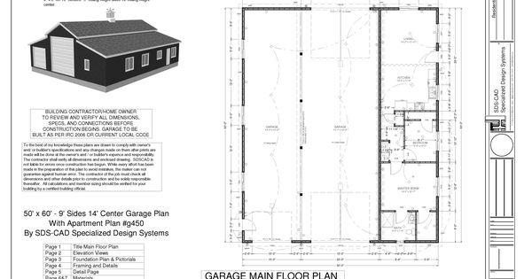 40x50 Pole Barn Garage