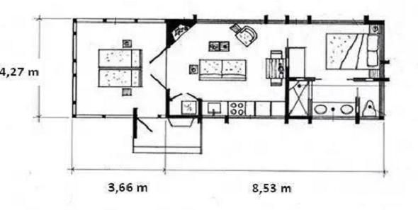 Casa De Vacanta Din Lemn De 36 De Metri Patrati Proiect Tiny Log Cabins Small Cabin Little Cabin