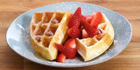 Big Buttermilk Breakfast Waffles Recipes Food Network Canada Recipe Buttermilk Waffles Best Waffle Recipe Waffles