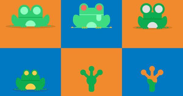 Six Flat Design Vectors Of Green Tree Frog Tree Frogs Green Tree Frog Vector