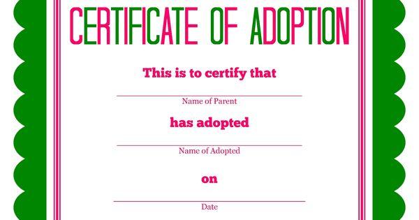 Free printable Stuffed Animal Adoption Certificate | Free ...