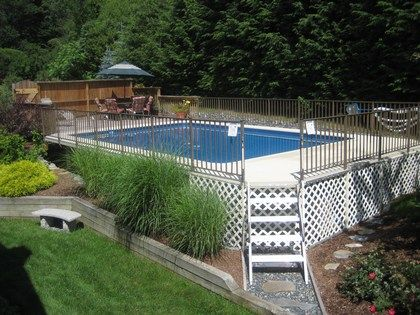 Great Above Ground Pool From Gibraltar Pool Landscaping