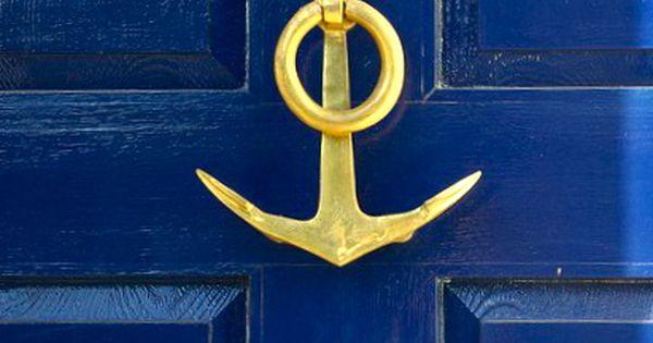 Love this anchor front door knocker