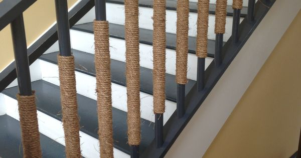 Wrap Rope Around Stair Railing Good For A Nautical Theme