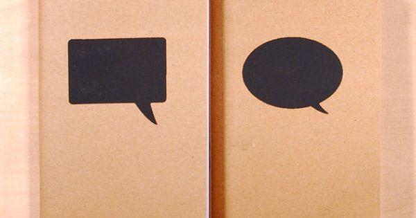 Speech Bubbles on Notebooks.