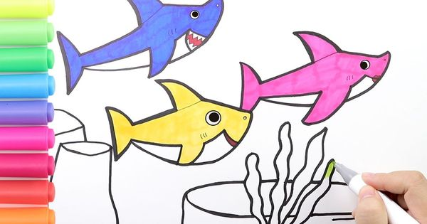 How To Draw Pinkfong Baby Shark Family Coloring Baby Shark Family Colori Family Coloring Pages Baby Drawing Family Coloring