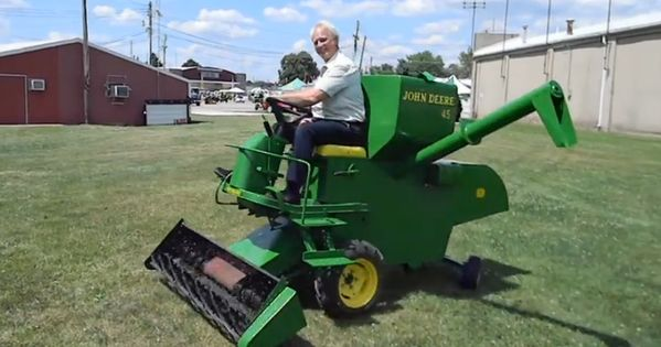 Picture Of A Lawn Mower >> The Man Who Turned A Simplicity Tractor Into A Miniature Combine Lawn Mower Is The Greatest ...