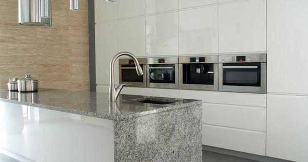 granit arbeitsplatte aus viscount white plattenl ngen bis 320 cm mit zuschnitt f r ein. Black Bedroom Furniture Sets. Home Design Ideas
