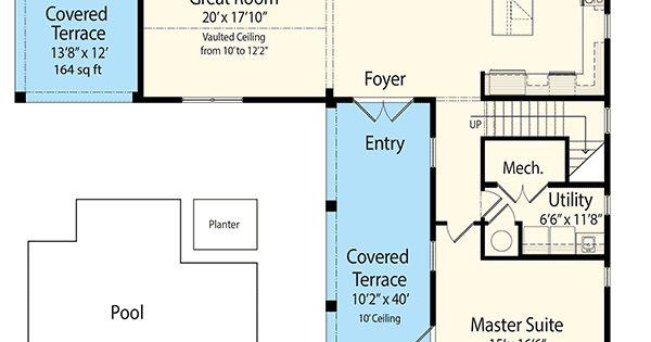 Plan 33160zr Net Zero Ready Courtyard House Plan