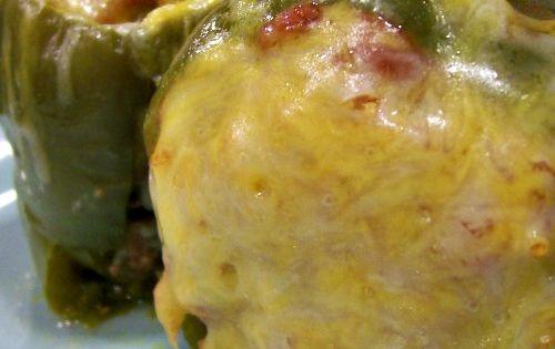 Crockpot green peppers stuffed.