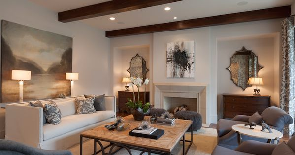 David James Custom Builders Elegant Living Room Features