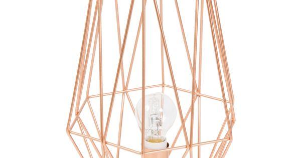 Lampe en m tal h 29 cm origami copper maisons du monde - Lampe rose gold ...