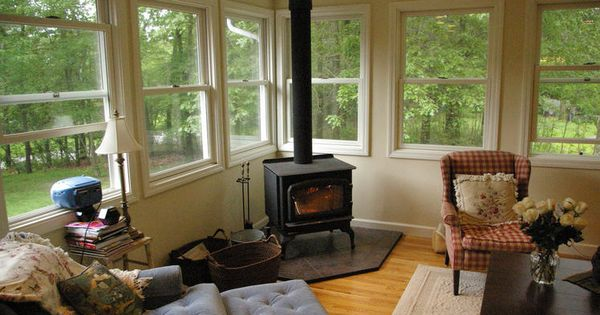 Woodstove In Sunroom Wood Stove Ideas Pinterest The