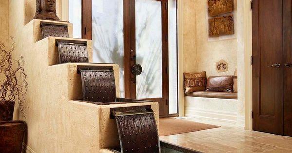 Foyer Interior Kit : Interior rustic entry aquatic fountain foyer sculpture
