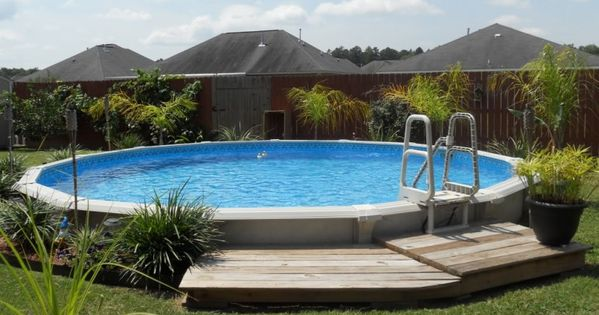 Above ground pool landscape designs pool above ground for Simple pool landscaping ideas